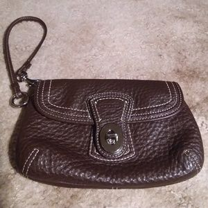Coach Leather Legacy Turnlock Wristlet
